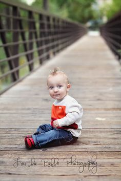 depth of field, one year pictures, little boy, bridge, fall photos, utah photography, lou la belle photography