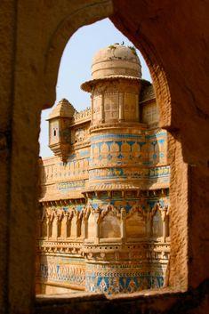 ॐ Ancient Hindu Palace, Gwalior, India...Hinduism Architecture ॐ
