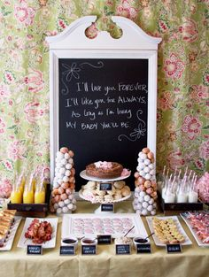 love the chalkboard and breakfast theme