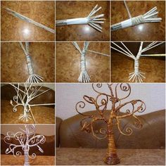 How to DIY Decorative Tree from Old Newspaper