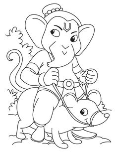 Simple ganesha drawing for kids