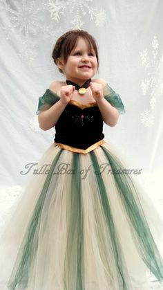 Traje del tutú del vestido verde wintry por TulleBoxofTreasures