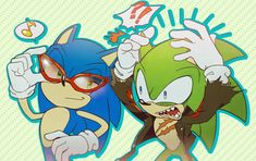 Me: *laughing my butt of at scourges face* Scourge: goddangit blue! give em BACK Sonic:hmmmm...NAH! :D