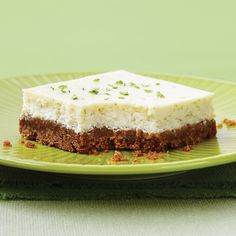 Lime Cheesecake Squares - Clean Eating - Clean Eating