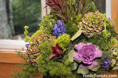 Beautiful autumn arrangement evokes the forest setting for this wedding. Floral Design, Wedding Decorations, Reception, Autumn, Elegant, Flowers, Plants, Beautiful, Classy