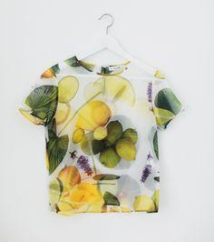 What's Inside You organza lemon print tees Shop Now #whatsinsideyou #eleonoracarisi #lemon
