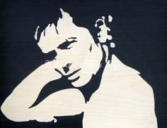Alain Delon -Marquetry picture Alain Delon, Airbrush, Famous People, Stencils, Moose Art, Portraits, Animals, Character, Marquetry