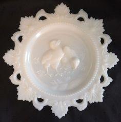 Westmoreland Milk Glass Chicks Plate