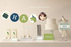 Cakeasaurus Dinosaur Party Decor by Pistols at minted.com