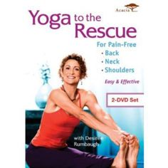 Yoga To The Rescue For Pain Free Back, Neck And Shoulders on DVD from Image Ent. More Fitness, Yoga and Health DVDs available @ DVD Empire. Neck And Back Pain, Neck Pain, Improve Flexibility, Senior Fitness, Yoga For Weight Loss, Acupuncture, Acupressure, Get In Shape, Workout Programs