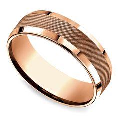 Cross Hatch Men's Wedding Ring in Rose Gold https://www.brilliance.com/wedding-rings/cross-hatch-mens-band-rose-gold