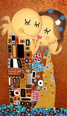 Luciano Martins, O Beijo (Releitura de Klimt)