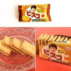 Bisco Mini Café au lait  Un paquete de 5 galletas Bisco pequeñas. El ligero sabor a café con leche ha aprovechado el suave sabor de la leche para reducir su nivel de amargor.  En la caja SUMO o SAMURAI:  www.boxfromjapan.com  #BoxFromJapan #BFJ #BFJOctubre #galletas #bisco