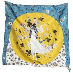 "rumisu "" a daydream away"" print on crepe de chine, silk"
