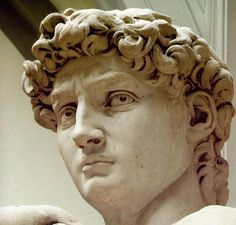 Art in Tuscany | Florence | Galleria dell'Academia | Michelangelo, David (detail)