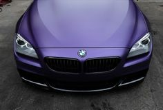 Purple BMW-unique car, design and class.