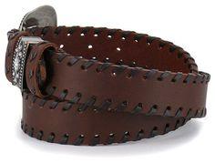 a134604c2d8e Shyanne Women s Brown Lace Stitched Belt