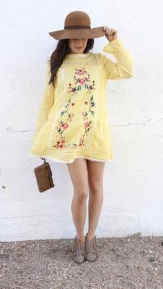 Trend Alert – The Rollin' J | Embroidered trend | lemon yellow dress with super sweet floral embroidery | Spring fashion | Spring trends | Spring outfits | therollinj.com | style blog | fashion blogger | boutique blog  #letstalktrend #embroidery #ss17 #fashionblogger #blogger #fashion