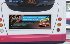 Bus backs are a great way to reach your target market, particularly if they are driving!