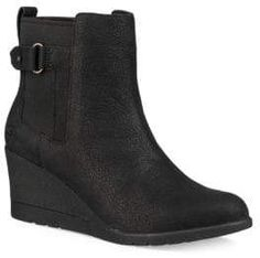black women s boots size 8 Leather Booties, Black Booties, Ankle Booties, Cute Womens Shoes, Wedge Heel Boots, Buckle Boots, Leather Buckle, Boots