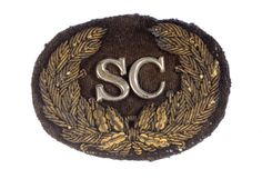 Very rare Confederate South Carolina Hat Device - Cowan's Auctions