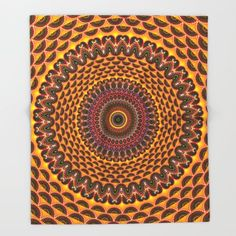 #Hippie Rainbow Mandala Fractal Pattern #Throw #Blanket by Hippy Gift Shop - $49.00