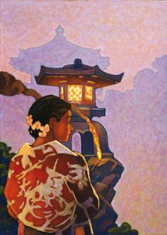 Chinese Woman Evening #Illustration from Miles Hyman. #China #travel
