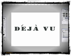 It all starts with an idea... wouldn't it be cool to have a T-shirt that says deja vu, and as you turn you have a feeling of,,, deja vu, because you have the same on both sides, well it seemed a cool idea to begin with. I use Photoshop for my designs, you can do freehand or any old design you chose. The important thing at this stage: use a  medium that you can print on and same time it is thick enough as not to leak!