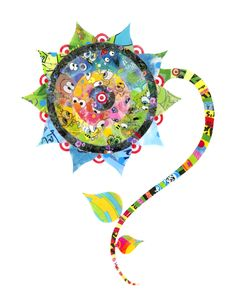 Virginia Fleck: Wild Flower, plastic bag art