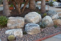 Large Landscaping Rocks : Large Garden With Rock Ideas