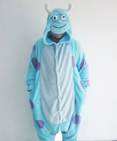 7ec38d8672 Amazon.com  Disney Monsters University Sully Kigurumi - Adult Halloween  Costumes Pajama PT068 (Size  XL(Height  5.84----6.17ft )