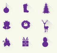 merry Christmas shadow icons