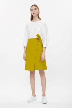 COS | Wrap-front cotton skirt