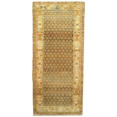 Antique Persian Malayer Carpet, Small Runner | From a unique collection of antique and modern persian rugs at https://www.1stdibs.com/furniture/rugs-carpets/persian-rugs/
