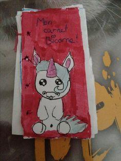 Mon carnet licorne  Fait par ma fille Kiara