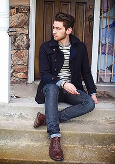50 Trendy Fall Fashion Outfits for Men to stylize with. Fall Outfits Outfits For Men Grey Sweater With Jeans. Ladies get this for the men in your life. Stitch Fix for Men, Fall outfit inspiration. Great jacket and jeans! Shoes are. Mens Fashion Blog, Fall Fashion Outfits, Fashion Moda, Look Fashion, Winter Fashion, Fashion Women, Fashion Ideas, Mens Autumn Fashion, Fasion