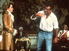 Tom Hulce and Milos Forman