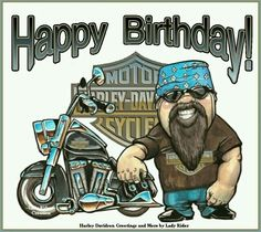Motorcycle Man Happy Birthday- have a good one