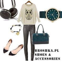 Outfit for autumn. shoes and bag by broshka.pl  fashion, style, everyday look