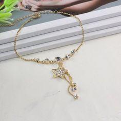 $6.13 Fashion Diamante Star Pendant Alloy Anklet For Women