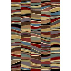 Shaw Living Tristan Rectangular Multicolor Transitional Woven Area Rug (Common: 8-ft x 10-ft; Actual: 7.66-ft x 10.83-ft)