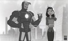 Iron Man in Disney's Paperman