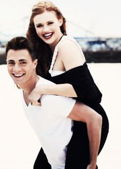 Colton Haynes and Holland Roden. Ah! I found a picture of Haley and Nelson together!!!! Love it.