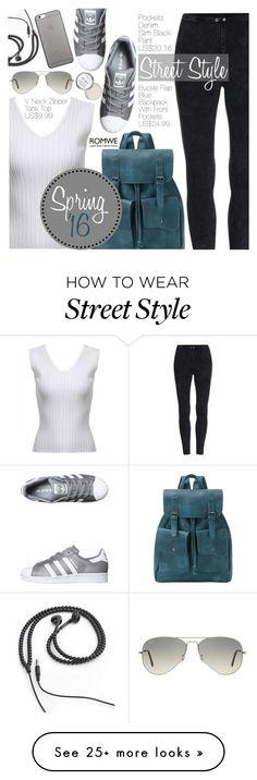 """Street Style"" by pokadoll on Polyvore featuring adidas Originals, Ray-Ban, Kikkerland, Native Union and romwe"