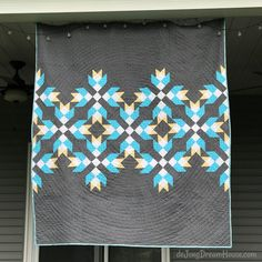 de Jong Dream House: Quilt :: Big Lake Blooms (May 2019 One Monthly Goal) Lap Quilts, Small Quilts, Quilt Blocks, Jellyroll Quilts, Mini Quilts, Big Lake, How To Finish A Quilt, Doll Quilt, Quilt Top