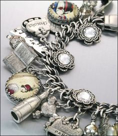 Silver Charm Bracelet Paris Jewelry Paris by BlackberryDesigns, $87.00