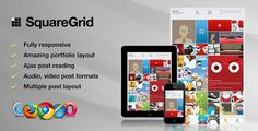 Buy SquareGrid - Fully Responsive Theme For Portfolio by themeton on ThemeForest. This is SquareGrid theme for Portfolio. It has really powerful portfolio layout that can show your items for Get Post, Web Design, Admin Panel, Portfolio Layout, Web Inspiration, Cool Animations, Premium Wordpress Themes, Background Patterns, Design Web