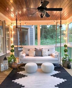 Modern Home Decor 20 Gorgeous And Inviting Farmhouse Style Porch Decorating Ideas.Modern Home Decor 20 Gorgeous And Inviting Farmhouse Style Porch Decorating Ideas Outdoor Spaces, Outdoor Living, Outdoor Bedroom, Outdoor Kitchens, Sweet Home, House Goals, My Dream Home, The Dream, Dream Life