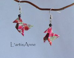 Boucles d'oreilles Origami Cocottes Liberty Ellie Ruth.
