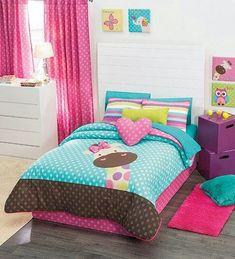 Twin, Full and Queen Girls Giraffe Comforter Set and Matching Curtains Baby Bedroom, Girls Bedroom, Bedroom Decor, E Room, Kids Room, Purple Bedrooms, Teen Bedding, Little Girl Rooms, Comforter Sets